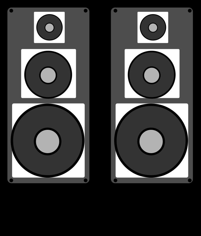 Free stereo speaker