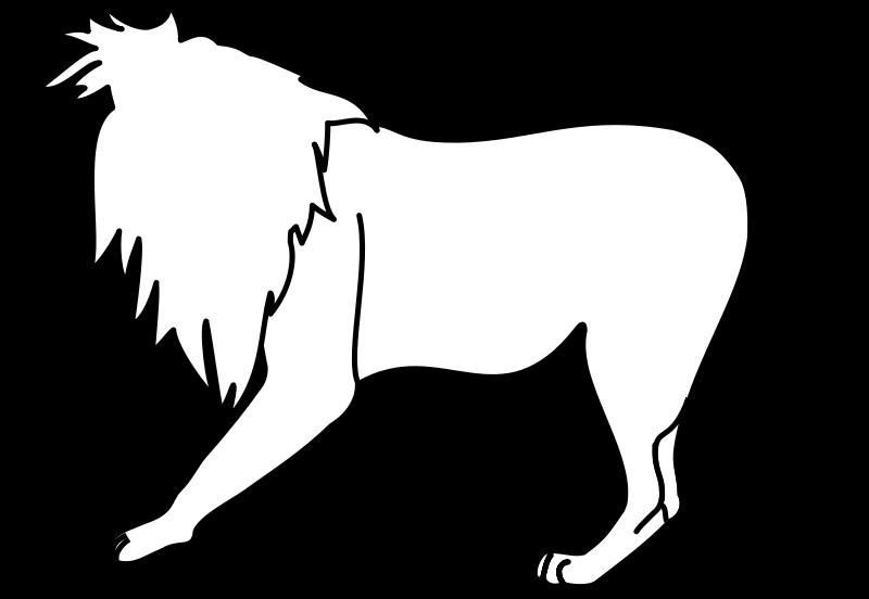 Free Lion Line Art
