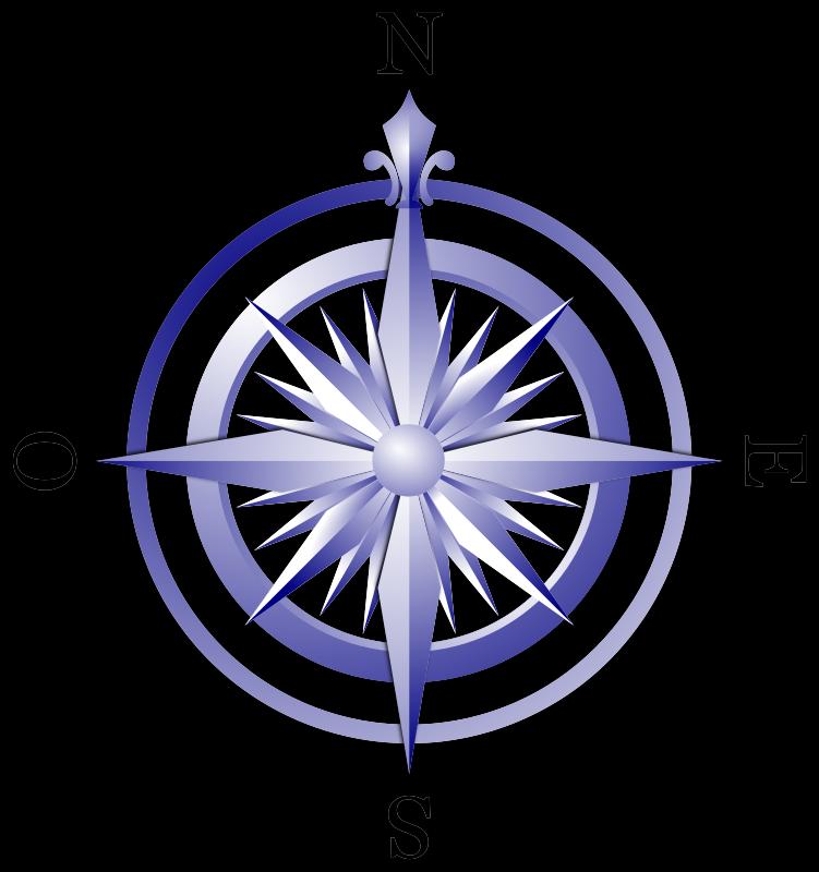 Free Puntos cardinales (azul)