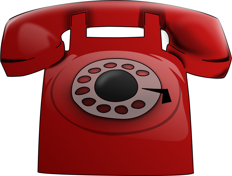 Phone red. Free clipart pipeep
