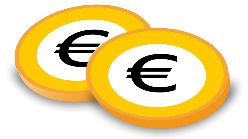 free clipart coins with euro sign laser engravers