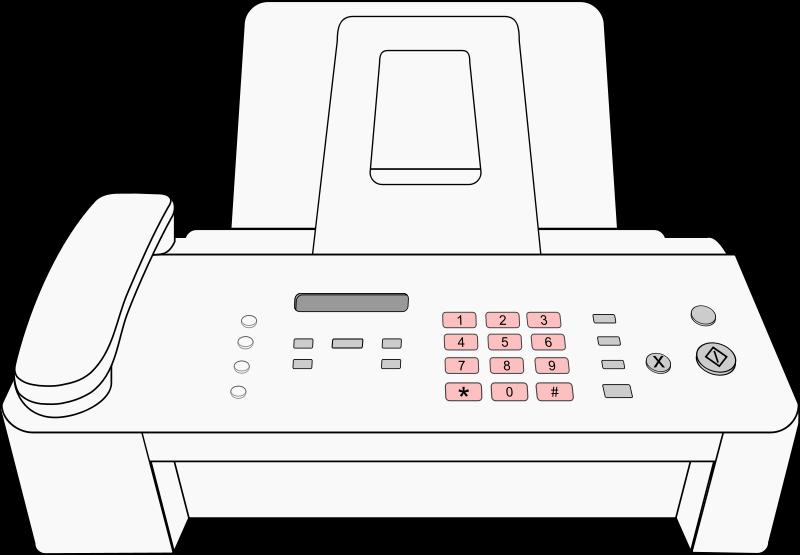 free clipart modern fax machine matthewhenninger