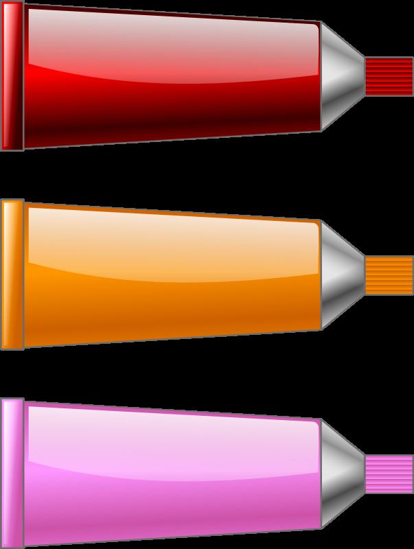 Free Color tube Red Orange Pink