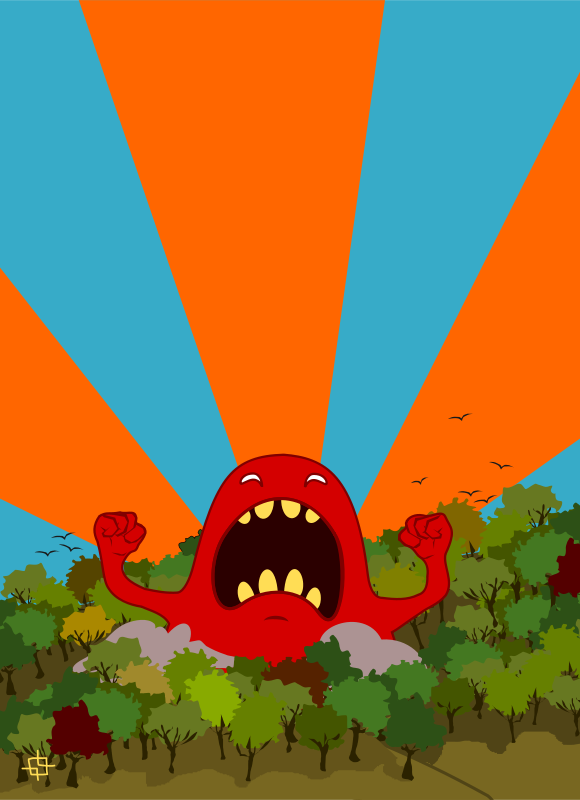 Free monster screaming