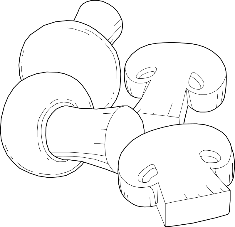 Free Clipart: Mushrooms Line Art | horse50
