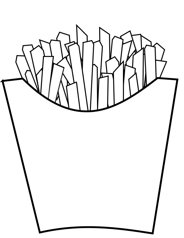 Free French fries Line Art