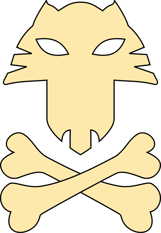 Free Cat pirates symbol