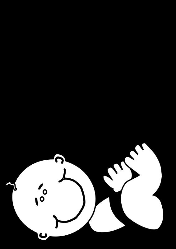Line Art Baby : Free clipart freedownloads