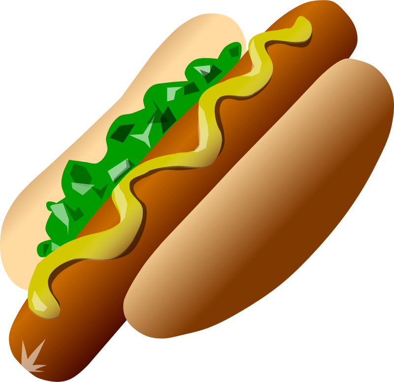 Free Clipart: Hot Dog | Deluge