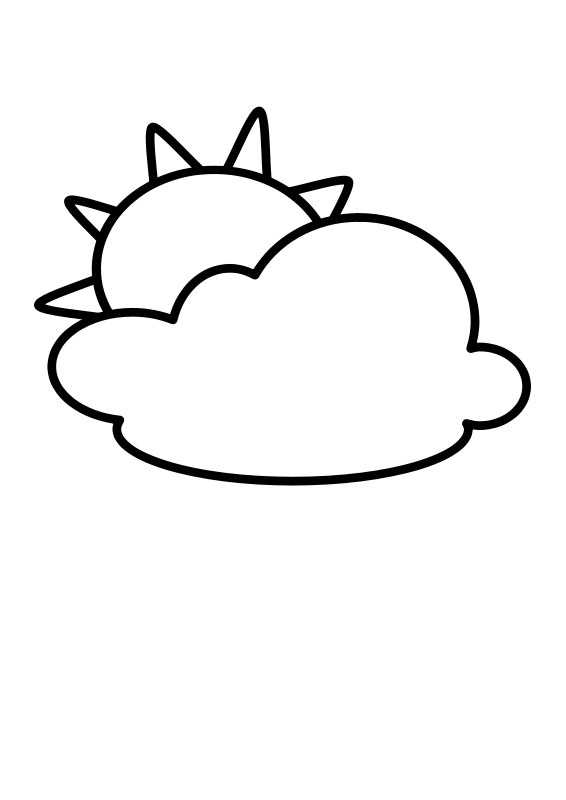 Free Cloudy - Outline