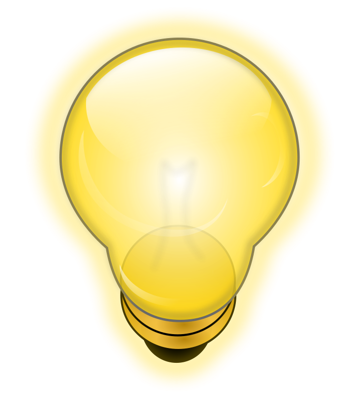Free Glowing Light Bulb