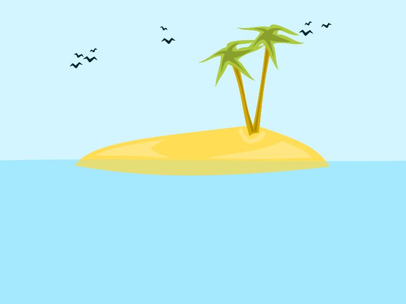 Free tropical island