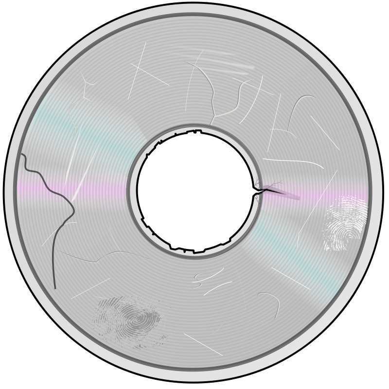 Free Severely Damaged Compact Disc