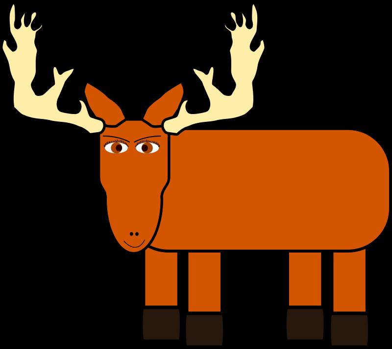 Free cartoon moose remix