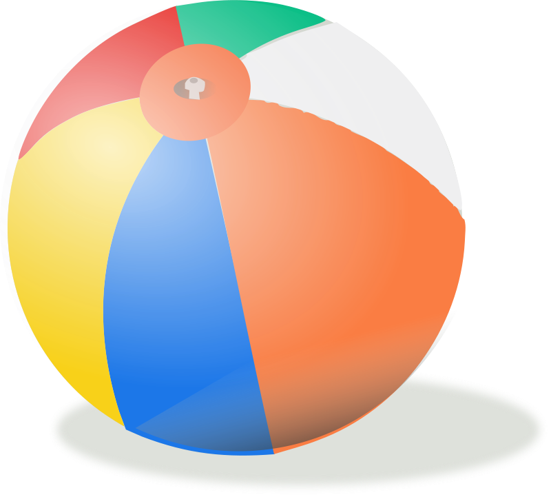 Free Clipart: Beach ball | rg1024