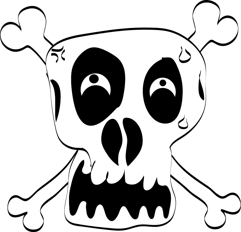 Free Freehand Funny Skull