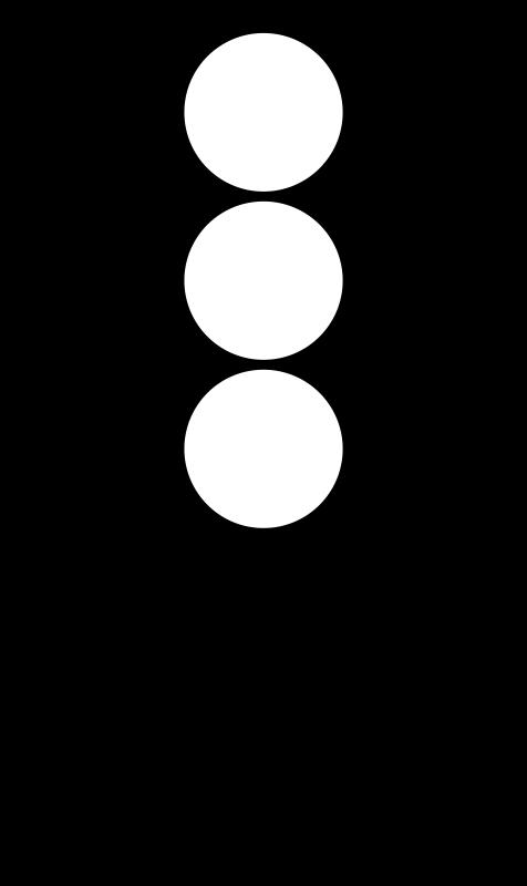 Free Traffic semaphore silhouette