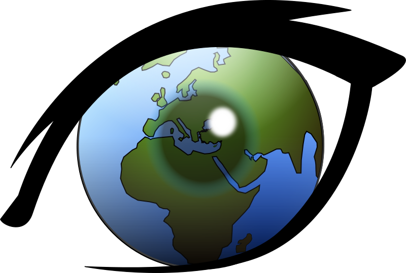 "Free Clipart: Eye can see the world Europe, Africa and Middle East (from ""cam.morris"" and ""narrowhouse"" works) 