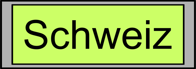 "Free Digital Display with ""Schweiz"" text"