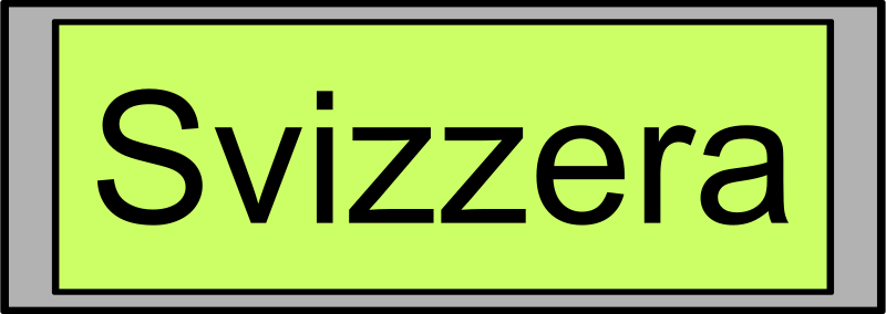 "Free Digital Display with ""Svizzera"" text"