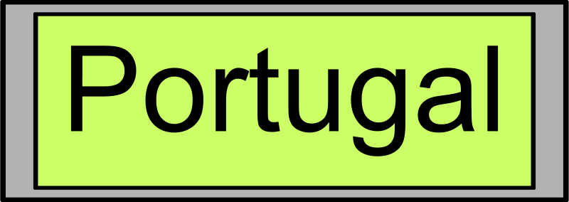 "Free Digital Display with ""Portugal"" text"