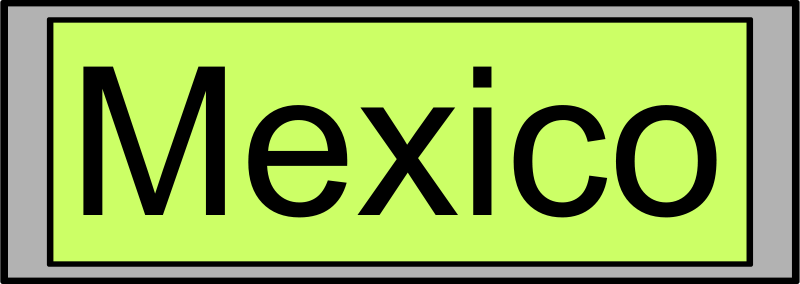 "Free Digital Display with ""Mexico"" text"