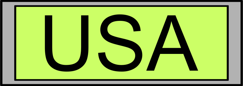 "Free Digital Display with ""USA"" text"