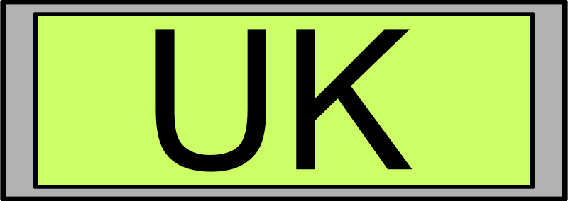 "Free Digital Display with ""UK"" text"