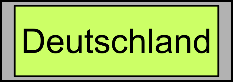 "Free Digital Display with ""Deutschland"" text"