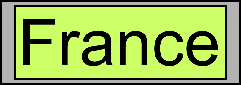 "Free Digital Display with ""France"" text"