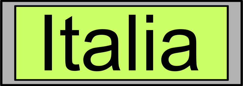 "Free Clipart: Digital Display with ""Italia"" text 