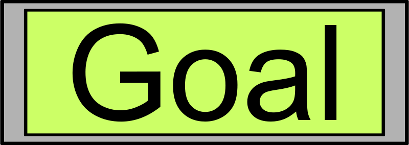 "Free Digital Display with ""Goal"" text"