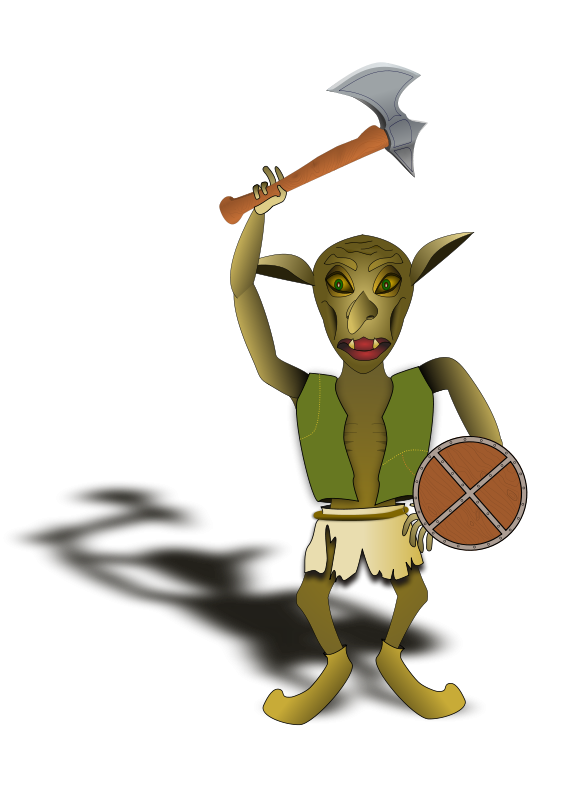 Free goblin warrior