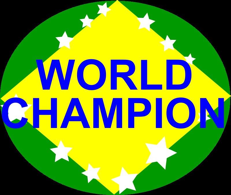 Free BRAZIL,WORLD CHAMPION