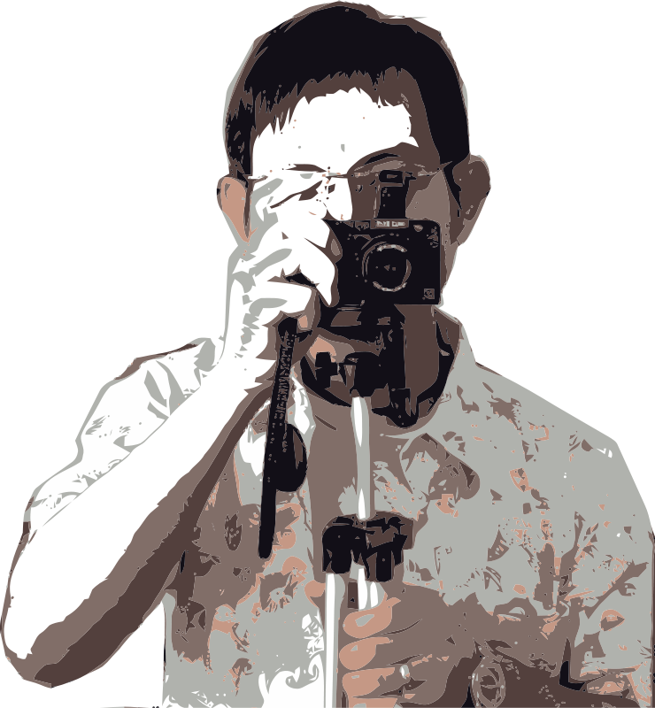 Free Man with camera
