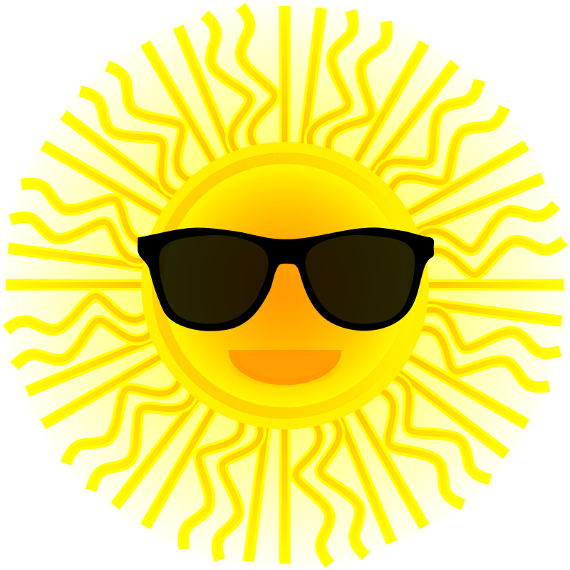 Free Sun with sunglasses