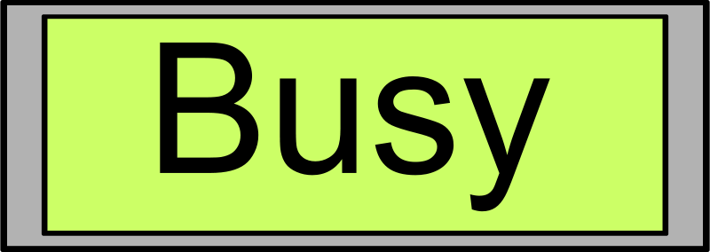 "Free Digital Display with ""Busy"" text"