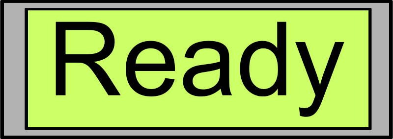 "Free Digital Display with ""Ready"" text"
