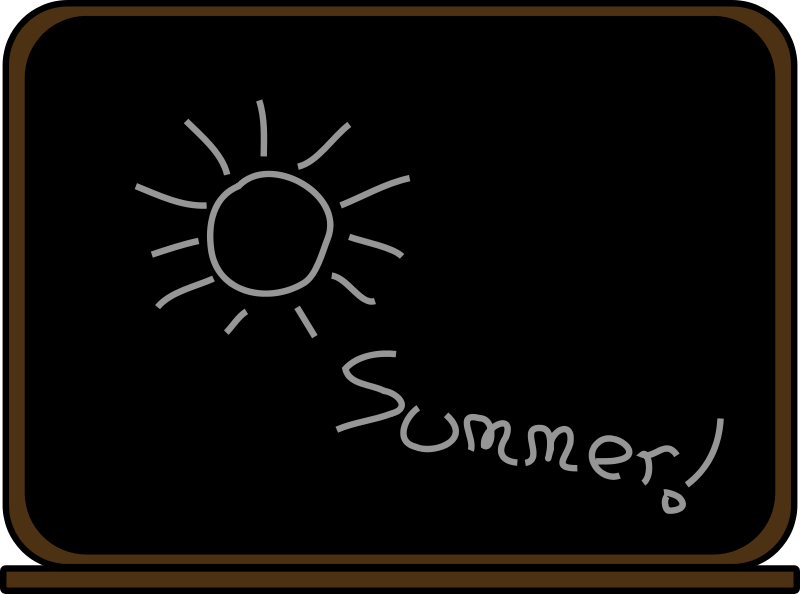 Free Summer school blackboard
