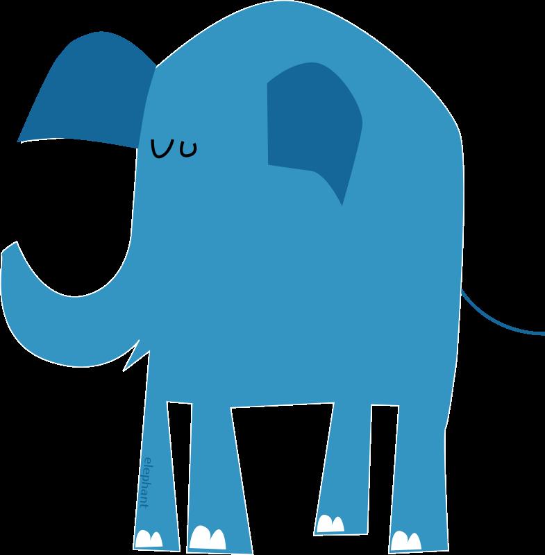 Free blue elephant