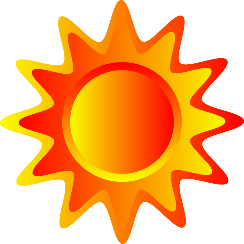Free Red, orange and yellow sun