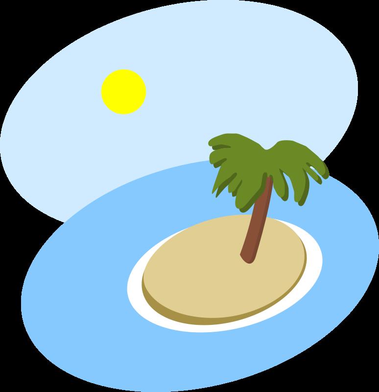 Free Oval island scene