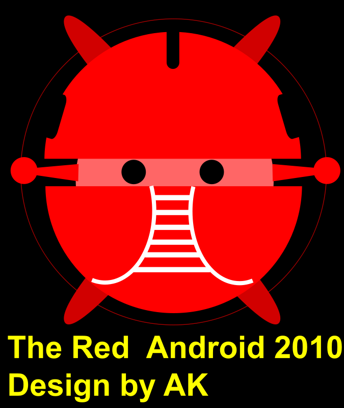 Free Clipart: Android, red android, robot bujung | aungkarns