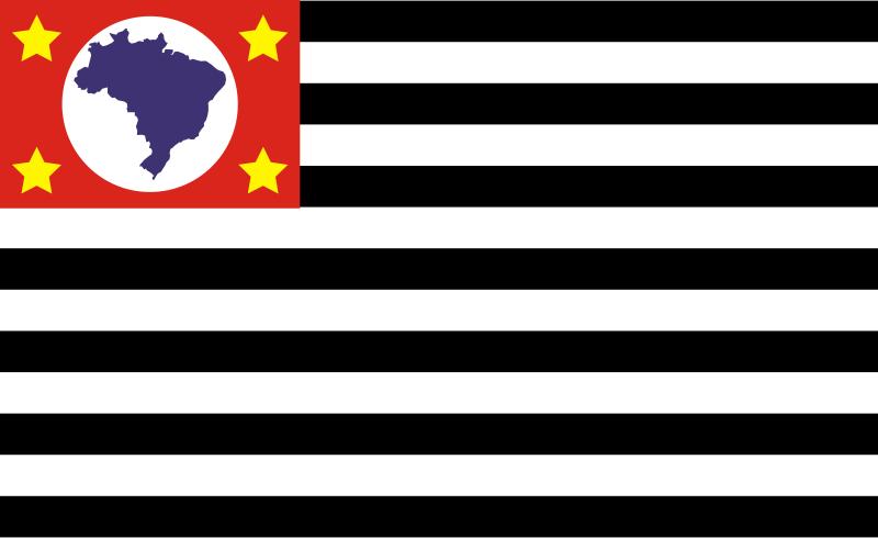 Free Bandeira de São Paulo - Brasil