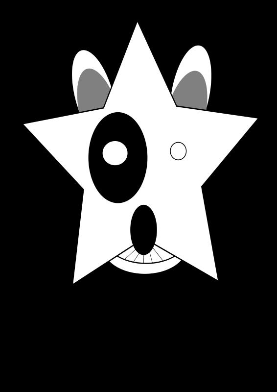 Free star,Bullterrier head, bujung,Bull terrier cartoon,dog Bullterrier