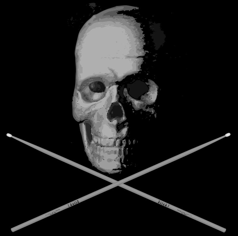 Free Old Skull Drumming BW