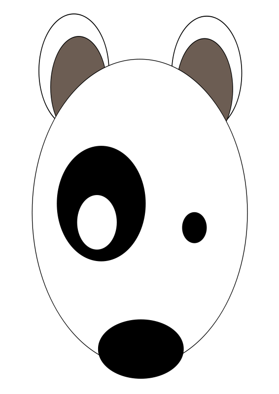 Free # Bullterrier head, bujung,Bull terrier cartoon,dog Bullterrier