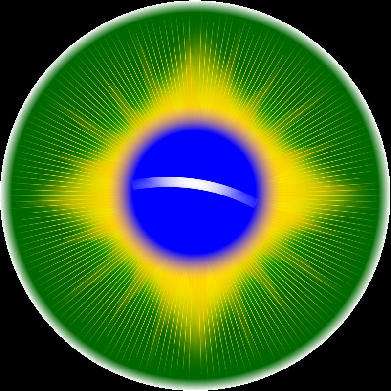 Free Rounded Brazil flag