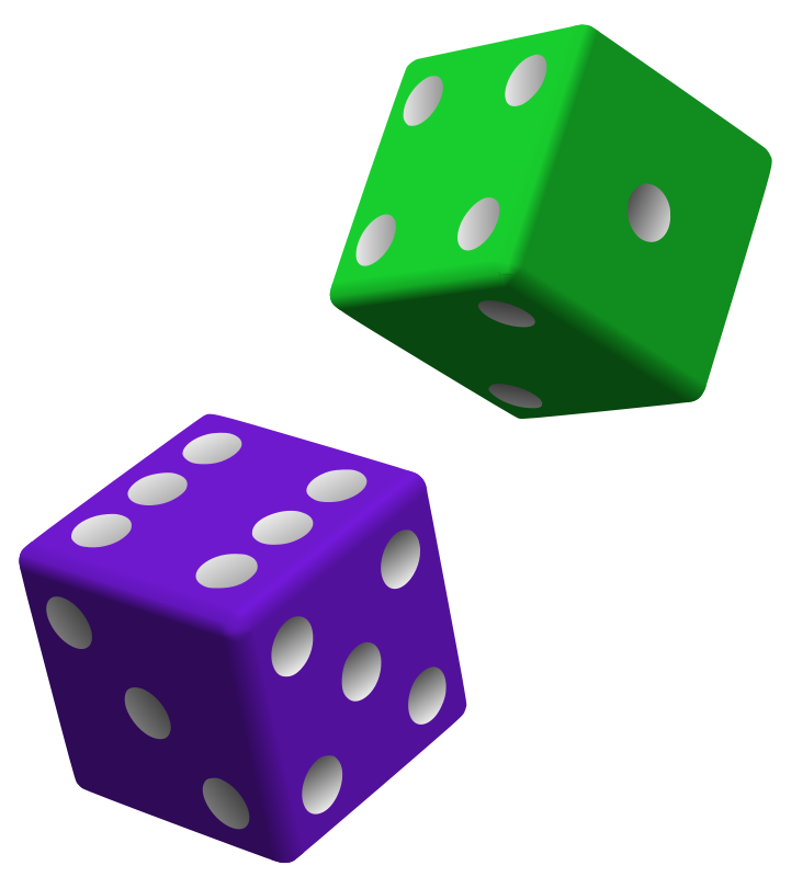 Free Green and Purple Dice