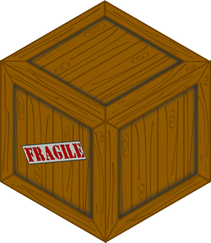 Free Isometric wooden crate